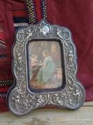 Angyal,puttós ezüstözött asztali fotókeret!! Szép!!