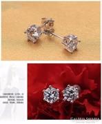 2db. Gyémánt csiszolású církon 925 ezüst fülbevaló