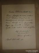 Szini Gyula író özvegyének autográf levele Gellért Oszkárhoz