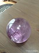 Nagy méretű ametisztásvány  kristály golyó