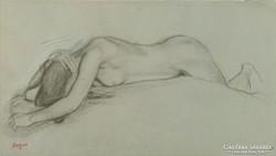 0L799 Jelzett Degas női akt nyomat