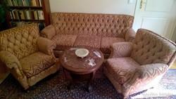 Barokk ülőgarn. luxus min.hibátlan kárpittal kanapé +2 fotel