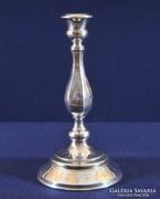 Barokk stílusú ezüst gyertyatartó