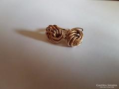 14K arany klasszikus csavart fülbevaló