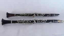 0K983 Régi KOHLERTA cseh klarinét dobozában 2 db