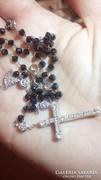 50 cm fehérarany lánc valódi  gyémánttal és moissanittal !