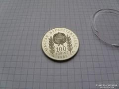 100 forint 1981 1300 éves Bulgária ötvözet RR! (8)