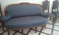 Neobarokk kanapé székkel