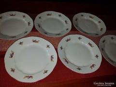 6 db Zsolnay süteményes tányér