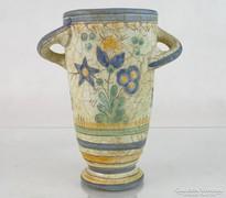 0M084 Régi jelzett Gorka Géza kerámia váza 19 cm