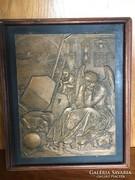 Bronz relief Szabó György szobrászművész alkotása