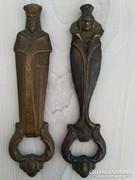 Antik bronz Király sörnyitó páros.