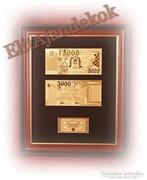 Az új 5000 forintos bankjegy arany köntösben