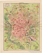 Madrid térkép 1915, régi, magyar nyelvű