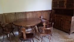 Egyedi tervezésű antik tálalószekrény-étkező-bárpult féláron