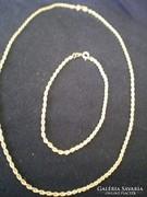 Gyönyörű arany nyaklánc + karlánc Garanciával arany