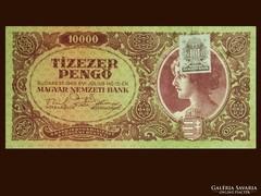 10000 PENGŐ - HAJTÁSMENTESN - BÉLYEGGEL