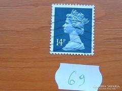 ANGOL 14 PENNY II. ERZSÉBET KIRÁLYNŐ 69.