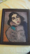 Rippl-Rónai József stílusában festett női portré.