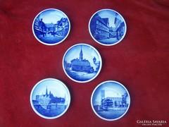Koppenhágai porcelán falitálak 5 darab