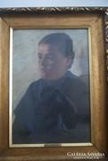 Aukcióra  meghirdetem Bihari Sándor Női képmás c festményét