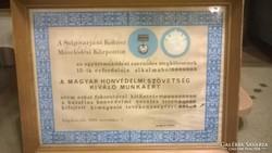 Magyar Honvédelmi Szövetség emlék plakett