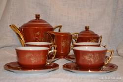 Csodaszép ritka Zsolnay 4 személyes teás készlet ( DBZ 0016)