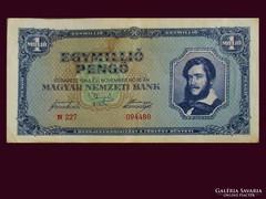 EGYMILLIÓ PENGŐS KOSSUTH BANKÓ - HAJTÁS NÉLKÜL