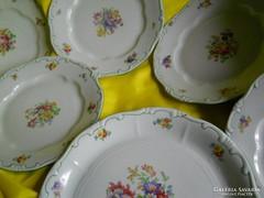 Zsolnay barokk süteményes 6db ,régi pajzscímeres...