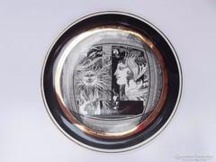 Hollóházi Szász Endre porcelán tányér