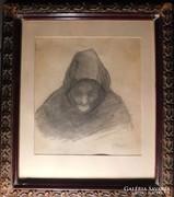 Fényes Adolf(1867-1945) Öregasszony
