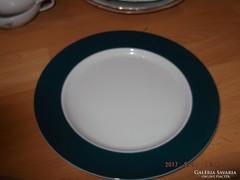 Zsolnay zöld lapos tányér