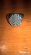 Egyedileg készíttetett Életvirág motívumos ezüst gyűrű