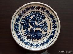 Dísztányér, falra akasztható tányér, balra néző galamb