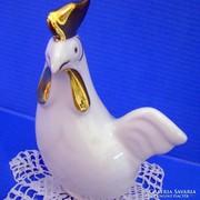 Hollóházi porcelán Art Deco tyúk újszerű állapotban !