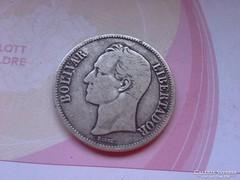 1936 Venezuela ezüst 5 bolivar 25 gramm 0,900 szép db