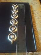 Szép nagy mutatos ezüst karkötö