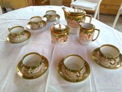 Dúsan aranyozott antik teáskészlet