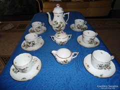 Herendi Rothschild mintás  6sz Cappuccinos Garnitúra