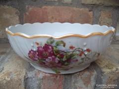 Porcelán virág mintás tál 26cm