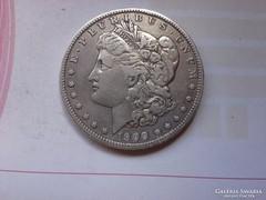 1900 USA morgan dollár 26,7 gramm 0,900 keresett,szép darab