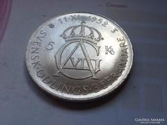 1952 Svéd ezüst 5 korona 22,7 gramm 0,400