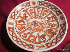 Kínai horoszkópos fali tányér Tigris éve 15,5 cm   05255