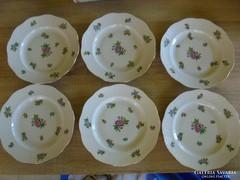 Herendi porcelán eton mintás tányérok( 6 db)