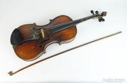 0M400 Antik Babós szegedi hegedű tokkal vonóval