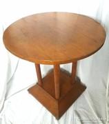 Art Deco kerek oszlopos asztal 70cm