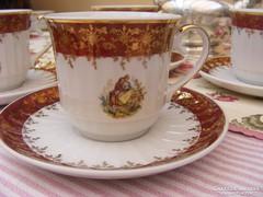 Meseszép, dúsan arnyozott, antik, Zajecar porcelán készlet