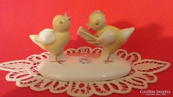 Metzler & Ortloff mókás olvasó porcelán csibepár