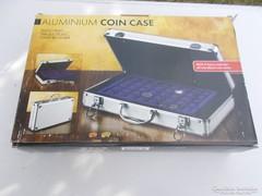 Alumínium érmetartó bőrönd