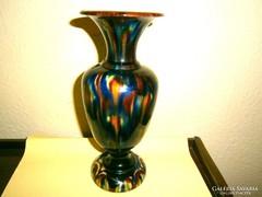 Mezőtúr Török L.art deco folyatott mázas váza